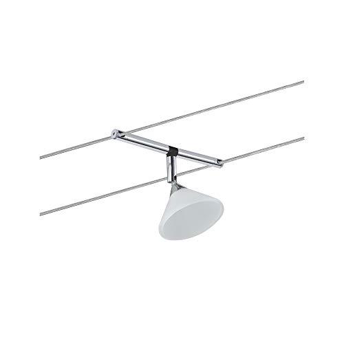 Paulmann 941.38 Seilsytem Colmar Spot Single Erweiterung max.10W Chrom/Satin 94138 Seilleuchte Hängeleuchte
