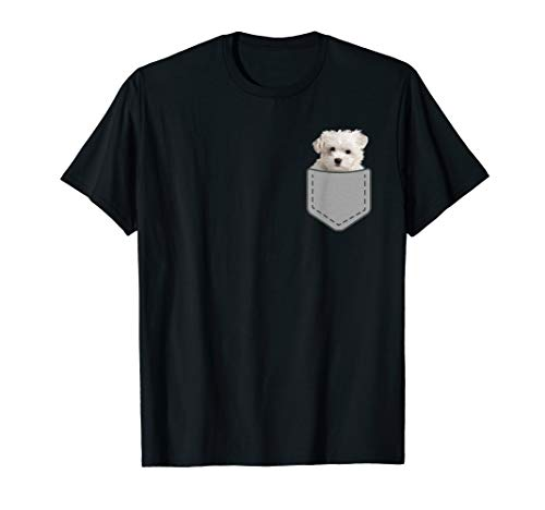 Maltese puppy dog in your pocket T-Shirt