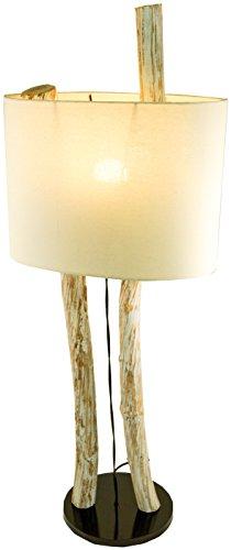 *Guru-Shop Stehlampe/Stehleuchte Kupang, in Bali Handgefertigt aus Naturmaterial, Holz, Baumwolle, Treibholz, 100x37x20 cm, Dekolampe Stimmungsleuchte*