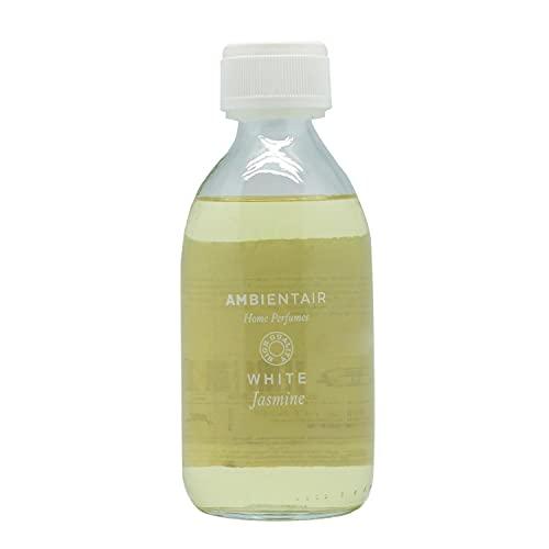 Ambientair Home Perfumes. Recambio para ambientador 250ml. White Jasmine. Recambio para difusor...