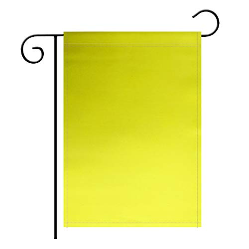 TSMD Solid Yellow Garden Flag Double Sided Plain Yellow DIY Flags,Outdoor Yard Decorative Flags,12'x 18'