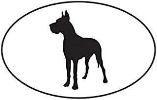 ION Graphics Magnet Great Dane Euro Oval Magnetic Vinyl Dog Canine pet 5