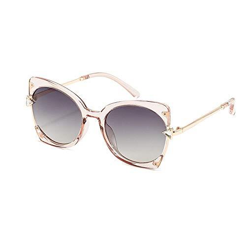 XIAOTANBAIHUO Anteojos Gafas de sol polarizadas de moda para mujer, protección UV, gafas de sol con montura metálica gafas de seguridad a prueba de rayos ultravioleta montura de metal gafas de sol de