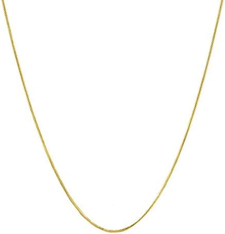 Verona Jewelers Sterling Silver 1MM 2 5MM Italian Solid Round Snake Chain Necklace Sterling product image