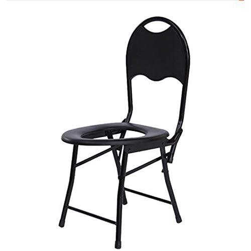 HJJKERLCBP Handicapped mobiele toiletstoel antislip opvouwbare oudere stoel zwanger commode douchestoel
