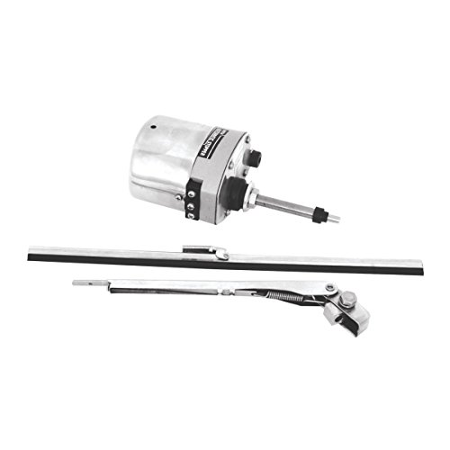KNS Accessories KA8603 Stainless Steel Windshield Wiper Motor Kit (for Jeep, Street Rod, Custom and Hotrod)