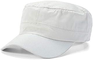 ZXY-NAN Adjustable Classic Plain Cap Vintage Army Military Cadet Style Cotton Hat (Color : Ivory)