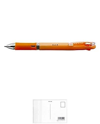 ゼブラ クリップ-オンスリム4C パステルオレンジ B4A5-WOR 【 5本 】 + 画材屋ドットコム ポストカードA