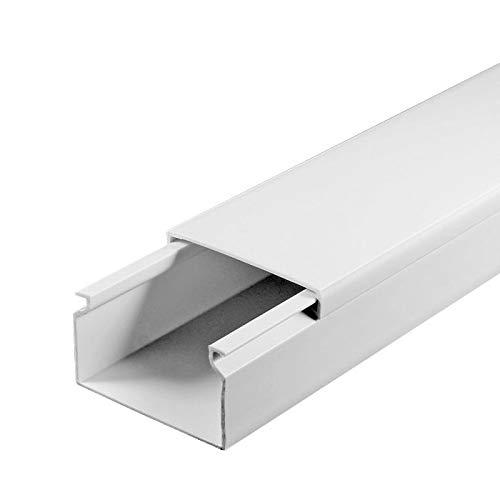 SCOS Smartcosat SCOSKK164 1 m Kabelkanal (L x B x H 1000 x 40 x 16 mm, PVC, Kabelleiste, Selbstklebend) weiß