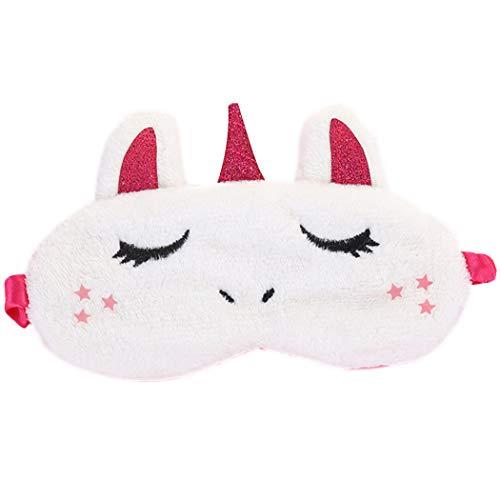 Fascigirl Antifaz para Dormir, Mascara para Dormir Antifaz Unicornio Antifaces Máscara para Niños,Niñas, Mujeres Mascara de Ojos Divertido Animal 3D Sueño Antifaz Viajes Resto