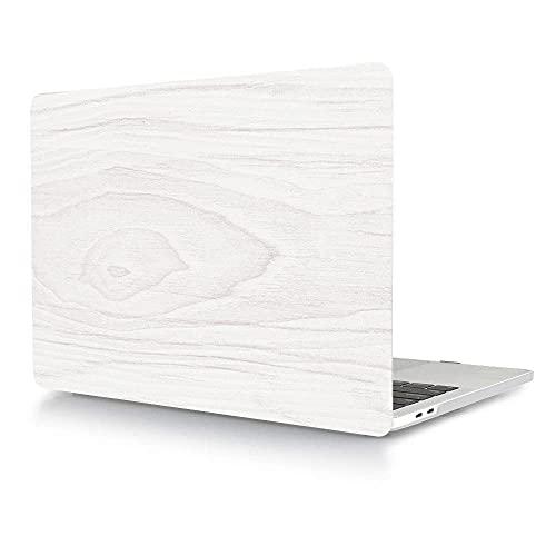 ACJYX Funda Compatible con MacBook Pro 13 Pulgadas 2020 2019 2018 2017 2016 Modelo A2338 M1 A2251 A2289 A2159 A1989 A1706 A1708,Plástico Duro Mate Funda Carcasa Protectora - Veta de Madera Clara
