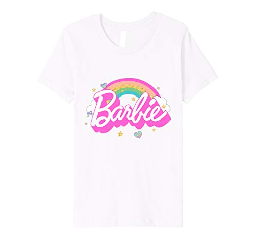 Youth Barbie T-Shirt, Official, Rainbow Barbie, Multiple Colours