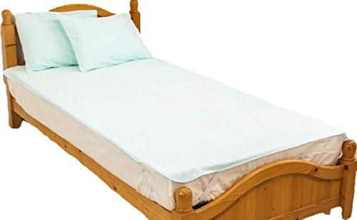【選べる4色全11サイズ】防水シーツ シングルサイズ (100×205cm) ロングパイル おねしょシーツ ロング綿パイルの防水シーツ/ブルー