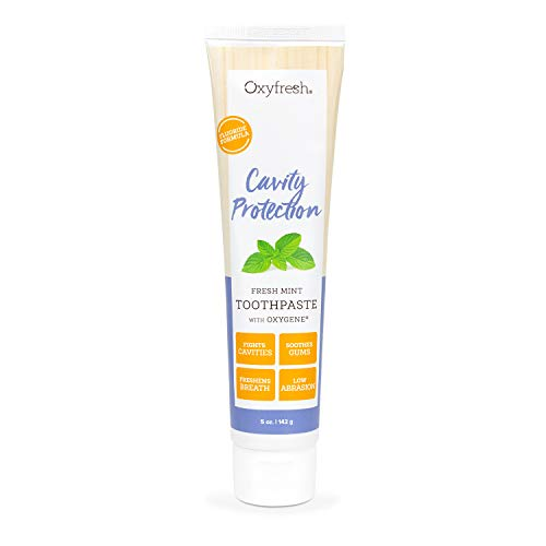 Oxyfresh Cavity Protection Fresh Mint Fluoride Toothpaste | Low Abrasion Anticavity Toothpaste for Sensitive Teeth & Gums – All-Day Fresh Breath (5 oz)