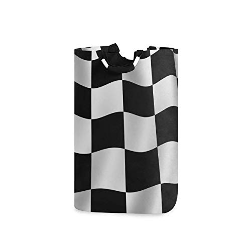 N\A Wäschekorb Faltbarer Eimer kollabiert Wäschekorb Waschbehälter Weiß Schwarz Gitter für Heimorganisator Kinderzimmer Aufbewahrung Babykorb Kinderzimmer