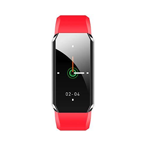 Pulsera de Fitness T3 con termómetro Corporal, Pulsera Inteligente a Prueba de Agua para Adultos, rastreador de Actividad física con monitorización de frecuencia cardíaca