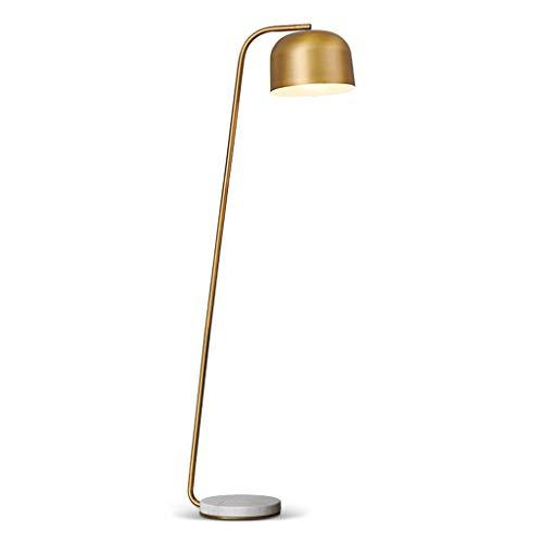 Lámpara de pie, iluminación interior, latón americano, lámpara de pie sencilla para habitaciones, lujo, vertical, lámpara de mesa adecuada para dormitorio, salón, oficina, E27 25 W, lámpara de pie L