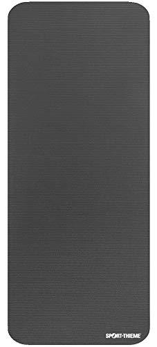 Sport-Thieme Gymnastikmatte Premium | Schadstofffreie Fitnessmatte, Trainingsmatte, Yogamatte | Grau | LxBxH: 190x80x1,5 cm | geschlossenzelliger Spezial-Schaumstoff | 2,4 kg