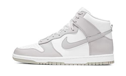 Nike Dunk HI Retro, Zapatillas de bsquetbol Hombre, White Vast Grey White, 46 EU