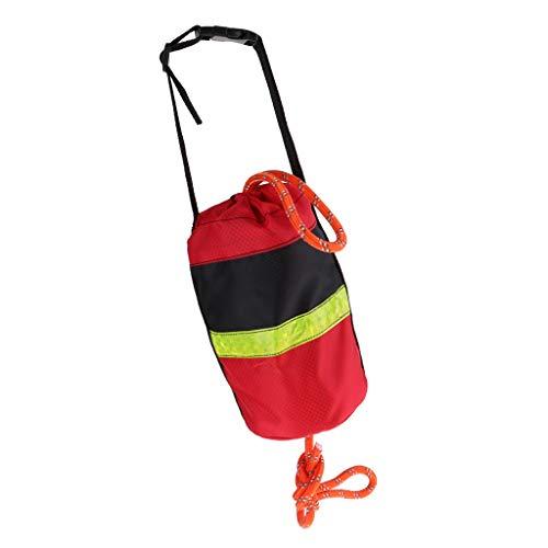 Toygogo Wurfsack Sicherheitsvorrichtung Kajak Und Bootsnotfallrettung Bunt Gefärbte Tasche - 21 Meter reflektierende Seilrote Tasche