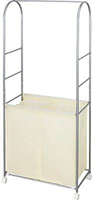 ミヤグチ企販 棚 ランドリー ラック 洗濯 収納 サイズ:60×31×155.5㎝