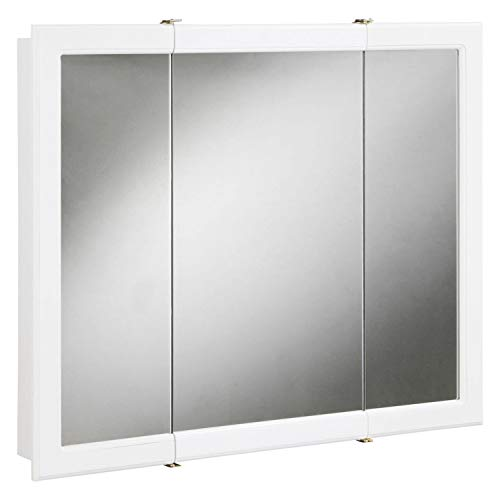 Design House 531434 Concord Mirrored Medicine Cabinet, White, -