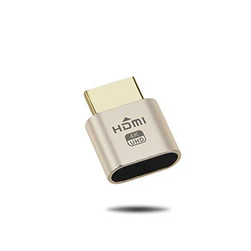 Generic eFUTURA Virtual Display HDMI [1 Stück] Emulator DDC EDID HDMI Buchse Dummy für Fernbetrieb bis HDMI UHD 4K @ 60Hz Ultima