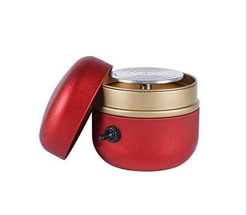 Mini-Ziehmaschine kleiner Finger, Aluminium-Plattenspieler mit Tablett, verwendet für DIY-Keramik-Arbeitstechnologie,Red