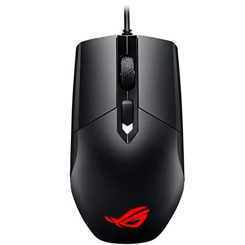 Domybest - Ratón de Juego ASUS ROG Strix Impact para Videojuegos, USB, con Cable de 4 Botones, Aura Sync RGB, óptico