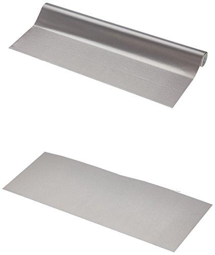 Fablon Dintex–Selbstklebender Vinyl, Beschichtung aus rostfreiem Metall, Grau 45 cm x 1,5 m grau