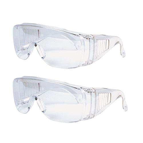 HONGCI 3 Pack of Safety Glasses,Anti Dust Wind Protective Eyewear Safety Goggles eye protection goggles Work Glasses with Clear Lenses,Security Glasses For For Construction,Laboratory,Chemicals