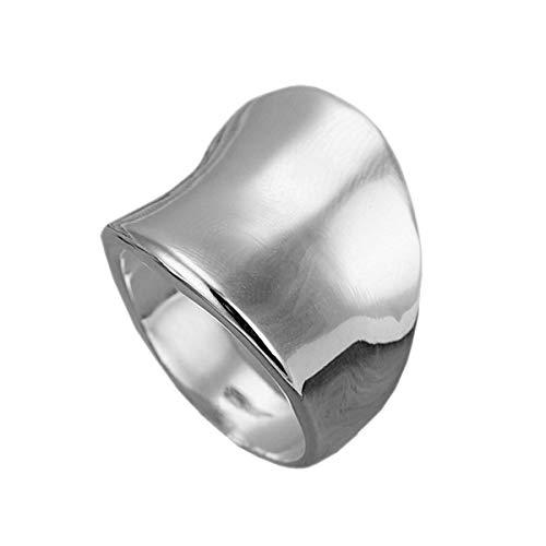 [アクセサリーショップピエナ]逆甲丸リング 指輪 太め ごつめ ツヤ有り メンズ リング レディース 22号