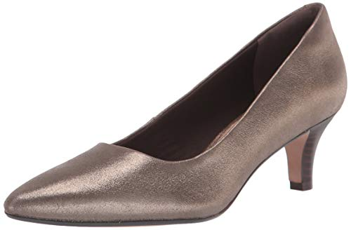 Clarks womens Linvale Jerica Pump, Metallic Leather, 6.5 Wide US