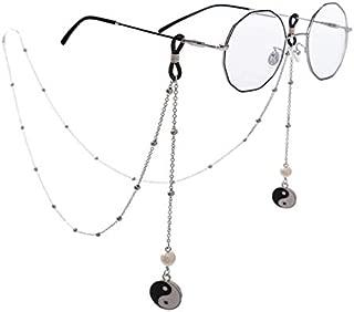 Newest Creative Metal Wing/Round Pendant Glasses Chain Vintage Holder Strap Lanyard Eyewear Accessories 80Cm,Silver