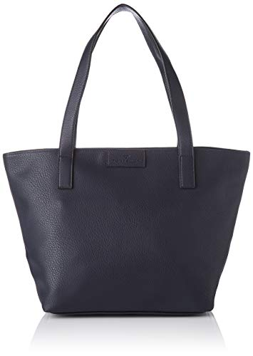 TOM TAILOR Shopper Damen, Blau, Miri Zip, 43/36x17,5x28 cm, TOM TAILOR, Handtasche, Umhängetasche