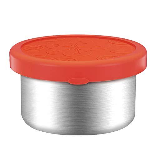 Render Aufbewahrungsboxen für Lebensmittel aus Edelstahl Behälter für Kühlschränke BPA-freie Silikondeckel Auslaufsicher Bento-Brotdosen (1 Packung 960ML)