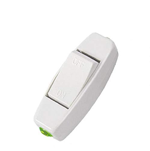 KHHGTYFYTFTY Barco Rocker Interruptor ON/Off Botón en línea y Cable de Noche Interruptor del botón de la Tabla de la lámpara de Escritorio de la lámpara luz de la Cama