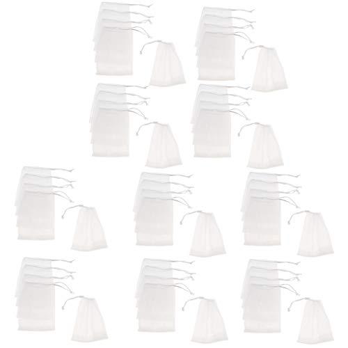 IPOTCH 10x Sacs à cordon Sacs de maille Pochette Maille Nettoyants