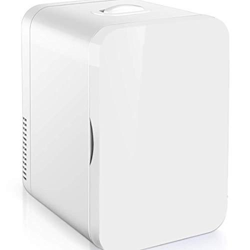 BYBYC Mini Refrigerador Pequeño Refrigerador 12V del Coche 220V Casa Solo Coche Puerta De Doble Uso Termoeléctrico Calentador Refrigerador Mini Refrigerador,Blanco