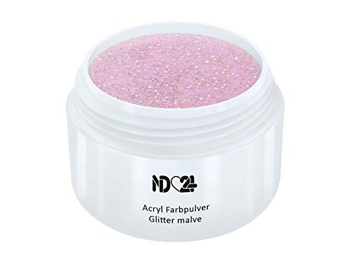 Acryl Farbpulver Glitter Malve Rosa - Feinstes Farb Puder Pulver Powder - Studio Qualität