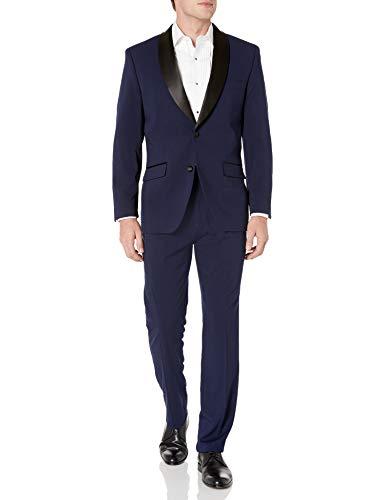 Perry Ellis Royal Blue Stretch Slim Fit Tuxedo