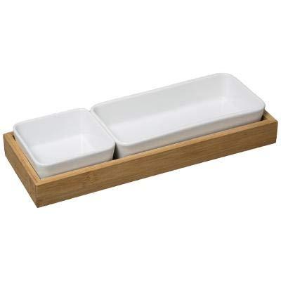 Juego de cuencos para aperitivos prémium en tabla de bambú, cuencos para salsas, para aperitivos, para servir, para crema o brulee, para postres, salsas