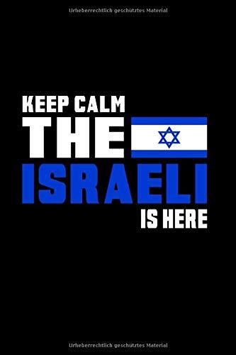 Keep Calm Israel Notizbuch: Schönes Keep Calm Isreael Flaggen Notizbuch mit 120 karierten Seiten im A5 Format