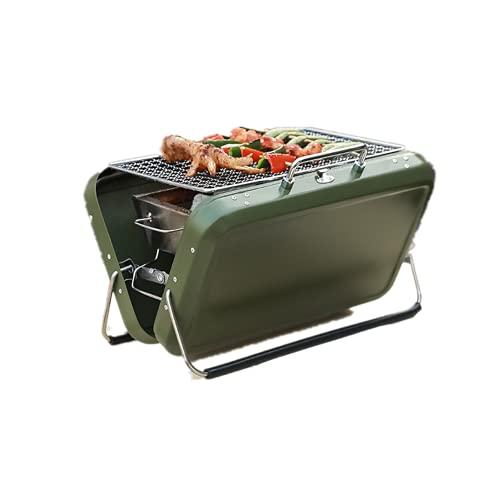 LOULE Parrilla de Barbacoa Portátil Al Aire Libre Parrilla de Carbón Plegable Material de Acero Inoxidable Cocina Gratis Fácil de Limpiar Adecuado para Barbacoa de Camping