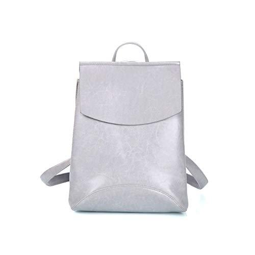 CHANGE Moda Donna Zaino Cuoio Pu Zaini per Ragazze Ragazze Ragazze Ragazze Scuola Borsa a Tracolla Bagpacka, grigio (Grigio) - shoulder-handbags