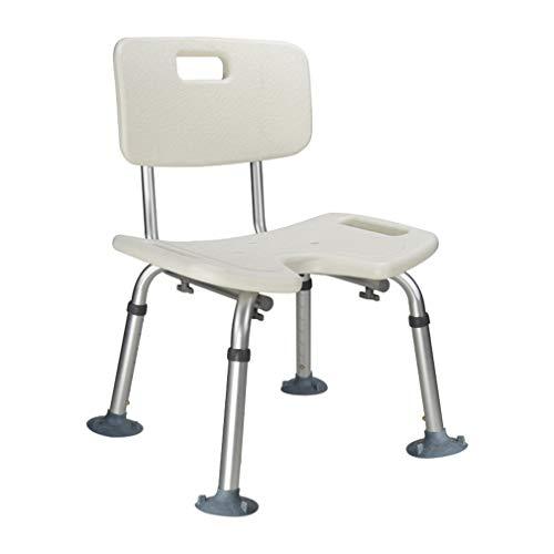 Tellgoy-Chair Duschstuhl U-Sitz, Duschbank Komfortable Rückenlehne, Badewannenstuhl Höhenverstellbar, Aluminiumlegierung Für Ältere Oder Behinderte Menschen,A