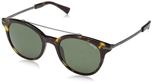 Police Herren SPL141 Sonnenbrille, Grau (Yellow Havana/Dark/Brown), Einheitsgröße