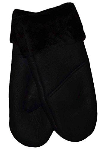 SamWo, Handschuhe/Fäustlinge für Damen, 100% Lammfell, Größe: M, schwarz q