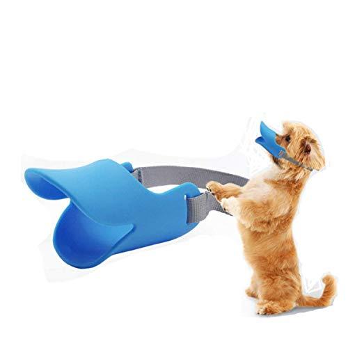 Jasonzhou Bozal para Mascotas, Suave/Cómodo/Seguro, Bozal De Entrenamiento para Perros Anti-Mordidas Y Anti-Gritos, Correa Ajustable, (S/M/L) Adecuado para Mascotas Grandes/Medianas/Pequeñas