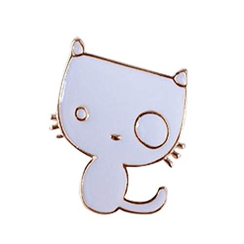 Cosanter Broche en forme de chat peint Broche pour Femmes Pins Broches Accessoires de Vetements Fille Cadeaux danniversaire Bijoux Ornement